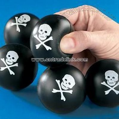 Skull & Cross Bones - Squeeze Ball