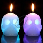 Skull Smokeless Candle with Color LED Lights