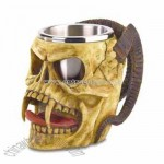 Skull Tankard With Steel Cup