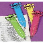 Skull and crossbones pen, ruler, bookmark, 5.5