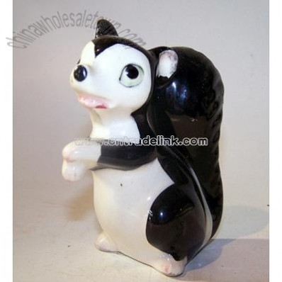 Skunk Figurine, Porcelain