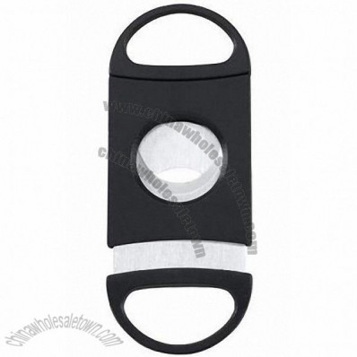 Slash Black Plastic Guillotine Cigar Cutter