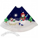 Sledding Snowmen Tree Skirt