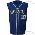 Sleeveless Full Button Youth Baseball Top