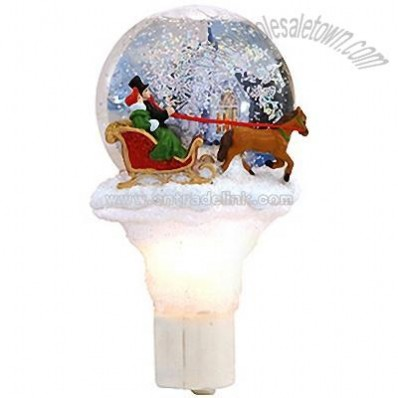 Sleigh And Horse Shimmering Night Light