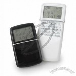 Slide open calculator and alarm clock