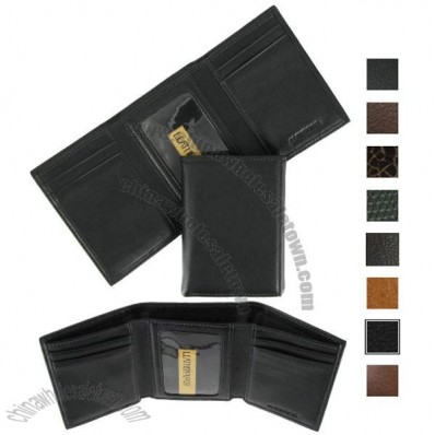 Slim Leather Trifold Wallet for Men's