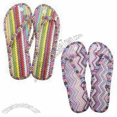 Slippers With Straw Mat and EVA