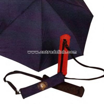 Small folding umbrella with color coordinated handle