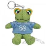 Small stuffed plush Felix frog with key ring