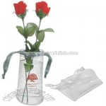 Small transparent PVC foldable vase