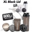 Smart Shake XL Edition - 800ml with Storage Compartment and Carabiner Clip