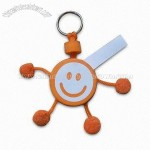 Smile Face Design EVA Keychain