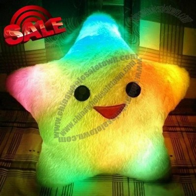 Smile Star Design Color Changing LED Light Up Pillow Bolster Cushion