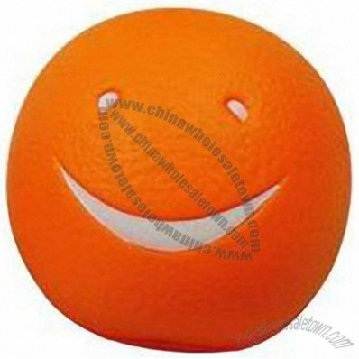 Smiling Face Orange Stress Balls