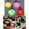 Smiling Face Sports Ball Shape Straw Water Bottle