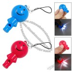 Smiling Figure Button LED Bulb Cell Phone String Strap Whistle