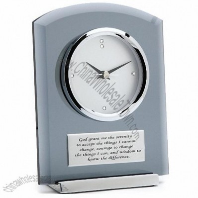 Smoke Glass Desk Clock