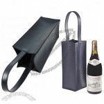 Smooth cow leather One wine bottle holder