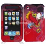 Snake Tattoo Design Executive Leather Case for Apple iPhone 3G/ 3GS