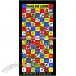 Snakes and Ladders Game Beach Towel