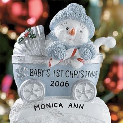 Snowbuddies Baby's First Christmas Ornament