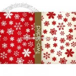 Snowflake Reversible Wrapping Paper