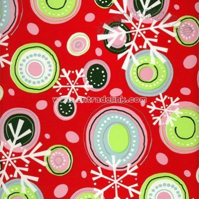 Snowflakes and Circles Wrapping Paper