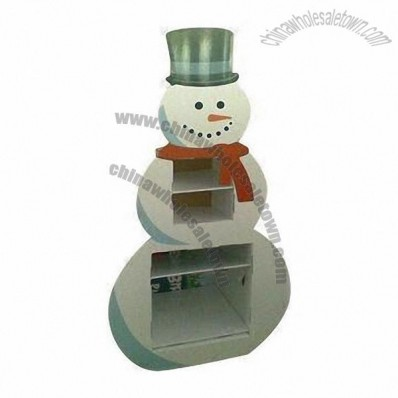 Snowman Cardboard Countertop Display