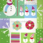 Snowman Squares Wrapping Paper