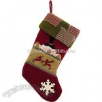 Snowman With Cardinal And Snowflake Stocking