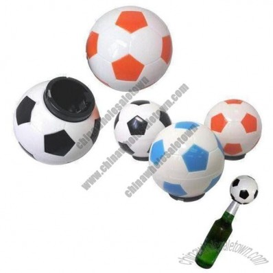 Soccer Ball Shape Bottle Opener for Beer and Cola Cap Removed with Pop Sound
