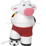 Soccer-Character Cow Shape Stress Reliever