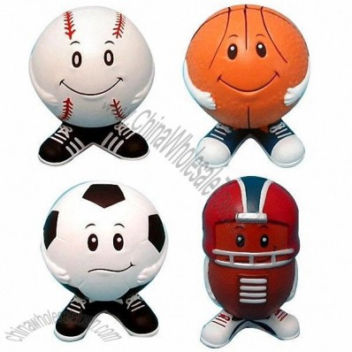 Soccer Man, Football Man, Basketball Man, Baseball Man, Stress Reliever