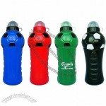 Soccer Shape Sports Drinking Bottle with Straw