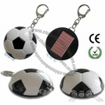 Soccer Solar LED Flashlight Keychain Football