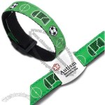 Soccer Sport Strap Bracelet with Medical ID Tag Adjustable