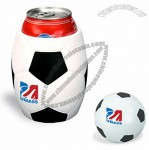 Soccer Stress Ball In Can Holder