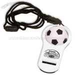 Soccer Whistler Stress Reliever with Lanyard