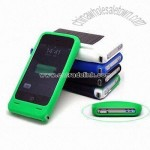 Solar Battery and Silicon Case for iPhone 3G