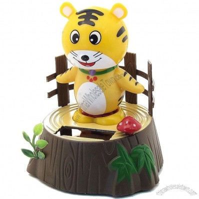 Solar Bobblehead Toy Figure, Baby Tiger