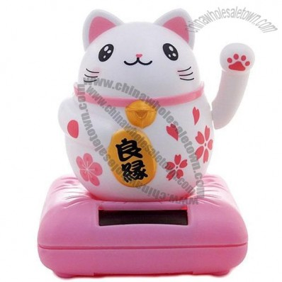 Solar Bobblehead Toy Figure,Waving Engimono Lefty Cat