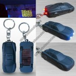Solar Car Shaped LED Torch Keychain with Money Detector Light
