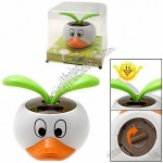 Solar Energy Dancing Leaves with Duck Flowerpot Car Gift Toy