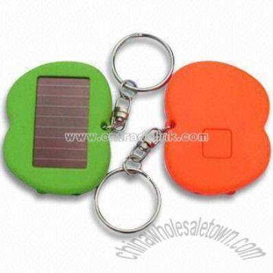 Solar Flashlights with Keychain