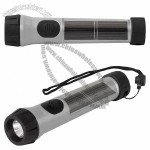 Solar Hybrid Flashlight with Rechargeable Batteries