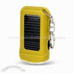 Solar Powered Keychain Flashlight