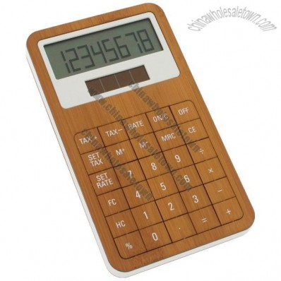 Solar Powered Lexon Bamboo Calculator