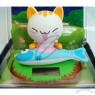 Solar Powered Shaking and Nodding Bobble Head Cat for Desktop or Car