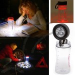 Solar Powered Water Bottle LED Light Lantern